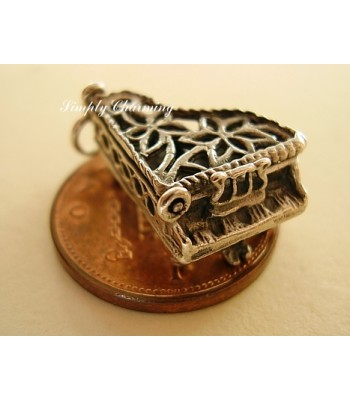 Piano Opening Sterling Silver Charm