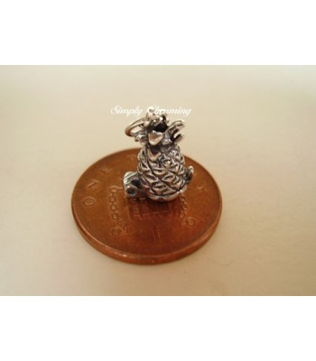 Pineapple Opening Sterling Silver Charm