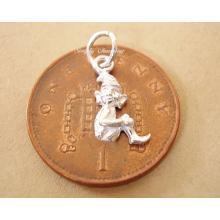 Miniature Pixie Silver Charm