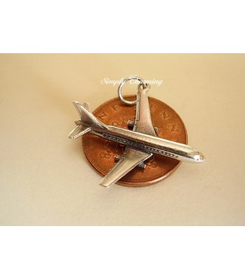 Jumbo Jet Sterling Silver Charm