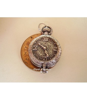 Pocket Watch Opening Sterling Silver Charm