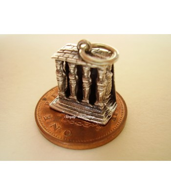 Porch of Maidens Sterling Silver Charm