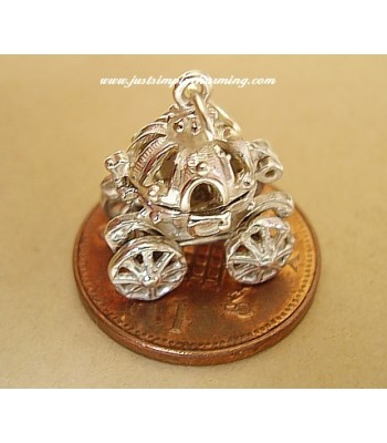 Cinderellas Pumpkin Coach Opening Moving Silver Charm