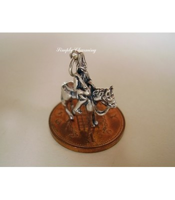 Queens Guard on Horseback Sterling Silver Charm