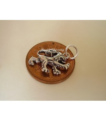 Scottish Rampant Lion Sterling Silver Charm