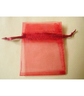 Red Organza Bag With Drawstring