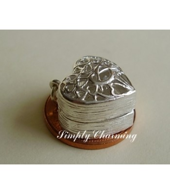 Heart Ring Box Sterling Silver Charm