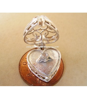 Ring Box Opening Sterling Silver Charms