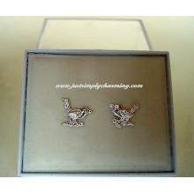 Sterling Silver Robin Stud Earrings