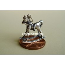 Rocking Horse Sterling Silver charm