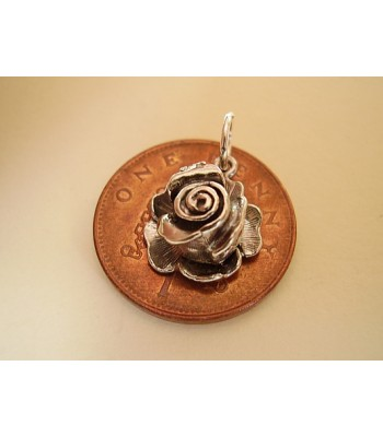 Rose With Ladybird Opening Sterling Silver Charm