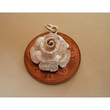 Rose Sterling Silver Charm