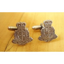 Sterling Silver British Royal Army Medical Corps Cufflinks