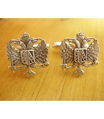 Sterling Silver British Military Queens Royal Dragoons Cufflinks
