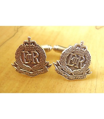 Sterling Silver British Army Royal Military Police Cufflinks