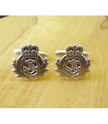 Sterling Silver British Army Royal Navy Cufflinks