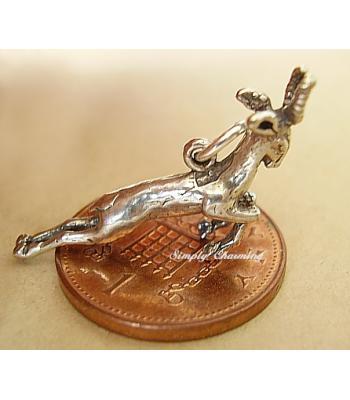 Rudolph Reindeer Sterling Silver Charm