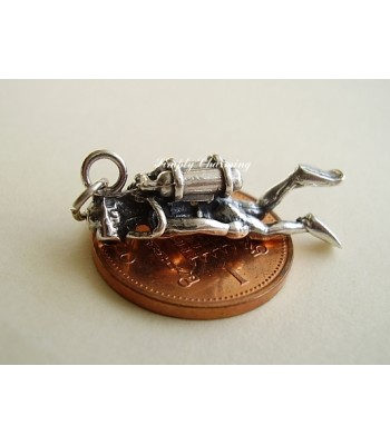 Scuba Diver Sterling Silver Charm