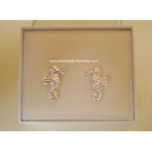 Sterling Silver Seahorse Stud Earrings