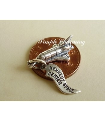 Space Shuttle Sterling Silver Charm