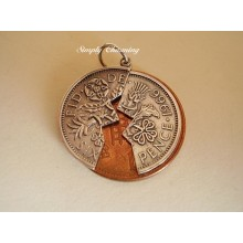 Half a Sixpence Sterling Silver charm