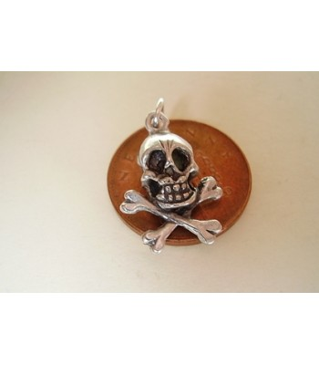 Skull and Crossbones Sterling Silver Charm