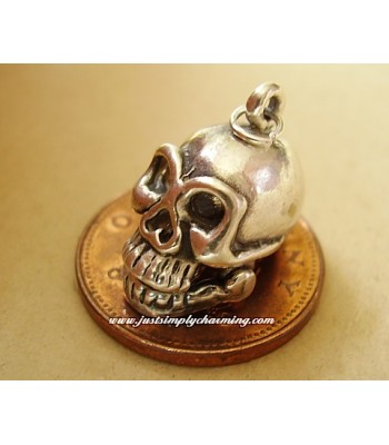 Moving Skull Sterling Silver Charm