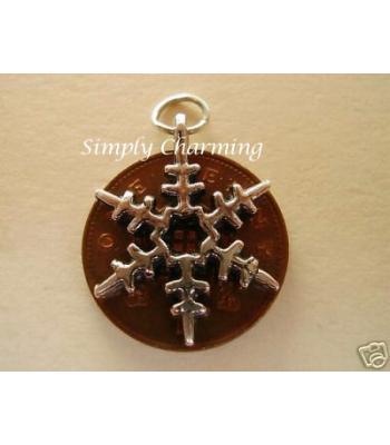 Snowflake Sterling Silver Charm