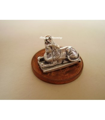 Egyptian Sphinx Opening Sterling Silver Charm