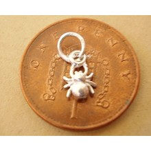 Miniature Spider Silver Charm
