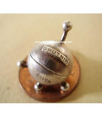 Sputnik - Laika Opening Sterling Silver Charm