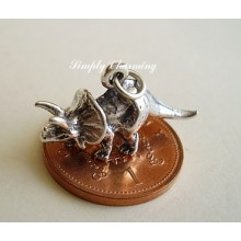 Triceratops Dinosaur Sterling Silver Charm