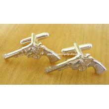 Sterling Silver Handgun Cufflinks