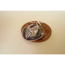 Stetson With Revolver Opening Sterling Silver Charm