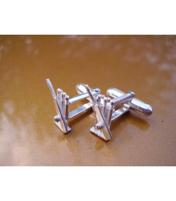 Sterling Silver Cricket Wicketts & Bat Cufflinks