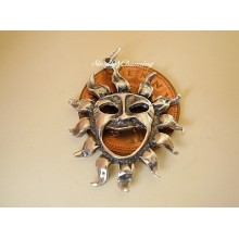 Pagan Sun Sterling Silver Charm or Pendant