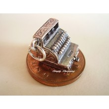 Cash Register Opening to Money Sterling Silver Charms