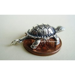 Tortoise and Hare Opening Sterling Silver Charm