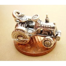 Tractor Opening Sterling Silver Charm