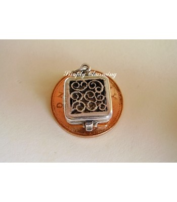 Travel Clock Opening Sterling Silver Charm