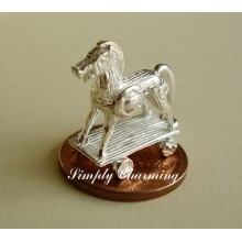 Trojan Horse Opening Sterling Silver Charm