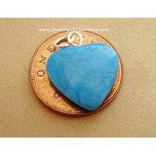 Turquoise Heart Shaped Charm