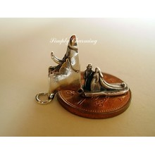 Wedding Shoe - Bride & Groom Sterling Silver Charm