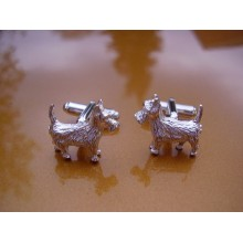 Sterling Silver Scottie Dog Cufflinks
