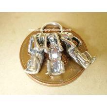 Three Wise Monkeys Sterling Silver Charm