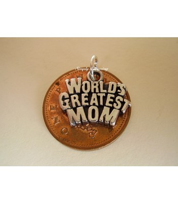 Worlds greatest Mom Sterling Silver Charm
