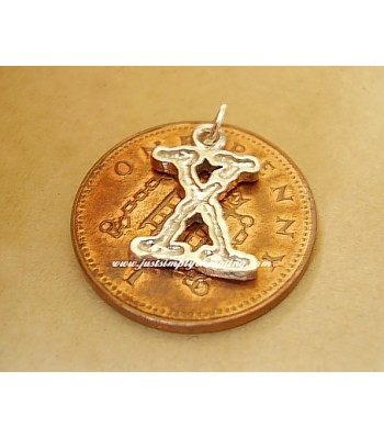 X Files sterling Silver Charm