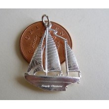 Yacht Sailing Boat Sterling Silver Charm