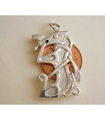 Celtic Dog Sterling Silver Pendant
