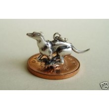 Racing Greyhound Sterling Silver Charm